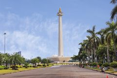 Jakarta, Indonesia, national monument Monas. The national monument or Monas is a 137-meter tower in the center of Jakarta, symbolizing Indonesia`s struggle for royalty free stock photos