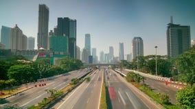 Timelapse footage of highway in CBD Jakarta
