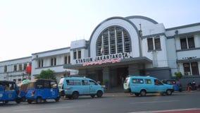 Jakarta Kota Train station stock video