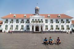 Jakarta Indonesien - circa Oktober 2015: Jakarta historiemuseum, förr Stadhuis i den gamla staden Jakarta Royaltyfria Foton