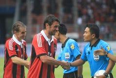 Italien und AC Mailand-Legende Paolo Maldini Lizenzfreies Stockbild