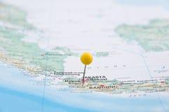 Jakarta Java, Indonesien, gult stift, närbild av översikten Arkivbilder