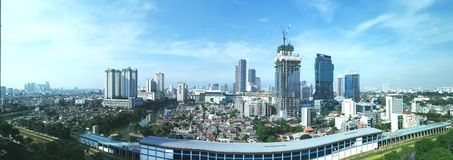 Jakarta landscape stock image