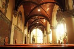 jakarta Maj 29th, 2017 Wnętrze Dżakarta katedra Fotografia Stock
