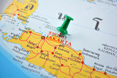 Jakarta map Royalty Free Stock Photos