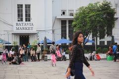 JAKARTA. May 27th, 2017. Batavia Market, Kota Tua Royalty Free Stock Photos