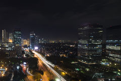 Jakarta Night City Stock Image