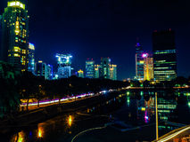 Jakarta night cityscape Royalty Free Stock Image