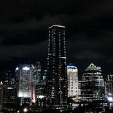 Jakarta on night stock image