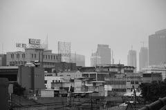 JAKARTA, o 28 de novembro de 2016 Construções urbanas em Jakarta central Imagem de Stock Royalty Free