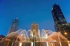 Jakarta på natten Arkivbilder