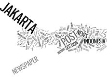 The Jakarta Post Text Background  Word Cloud Concept Royalty Free Stock Photography