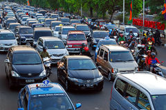 Jakarta road traffic Stock Photos