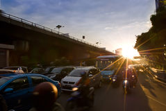 Jakarta road traffic Stock Photography