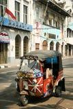 Tuk tuk motorized rickshaw jakarta indonesia Royalty Free Stock Images