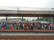 Jakarta-Serpong Commuters Stock Photo