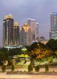 Jakarta skymning Royaltyfri Foto
