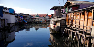 Jakarta Slum Area Royalty Free Stock Photography