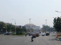 Jakarta stadsgata arkivfoton