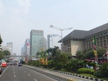 Jakarta stadsgata Fotografering för Bildbyråer
