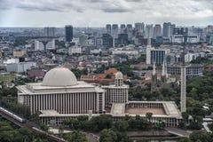 Jakarta stadspanorama arkivbild