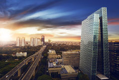 Jakarta-Stadt nachts Lizenzfreie Stockbilder