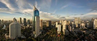 Jakarta-Stadt-Skyline Lizenzfreie Stockfotos