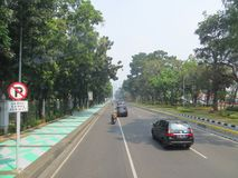 Jakarta-Stadtstraße lizenzfreie stockfotografie