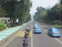 Jakarta-Stadtstraße stockfotografie