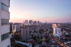 Jakarta sunset Stock Image