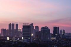 Jakarta sunset Royalty Free Stock Photo