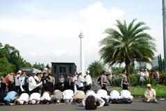 Jakarta 4th of November Demonstration. Jakarta 4th of November 2016 demonstration against Jakarta Governor Basuki Tjahaya Purnama Stock Photo