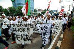 Jakarta 4th of November Demonstration. Jakarta 4th of November 2016 demonstration against Jakarta Governor Basuki Tjahaya Purnama Stock Image
