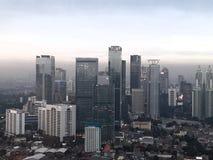 Jakarta torn royaltyfri fotografi