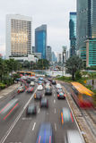 Jakarta traffic around Plaza Indonesia Royalty Free Stock Photography