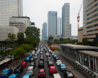 Jakarta traffic Royalty Free Stock Photography