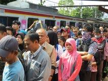 Jakarta train passengers. Stock Images