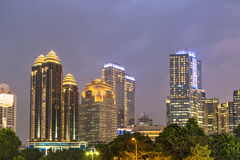 Jakarta twilight Royalty Free Stock Photos