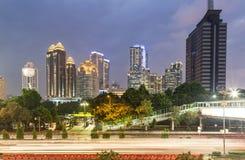 Jakarta twilight Royalty Free Stock Photo