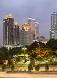 Jakarta twilight Royalty Free Stock Photo