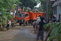 Jakarta wirft weg Stockbilder