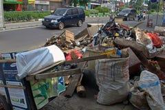 Jakarta wirft weg Stockfoto