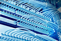Kontrolny gabinet z łata panelem 6th kategoria, błękitny brzmienie zdjęcia stock