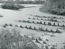 Jakby marznąca rzeka Obrazy Royalty Free
