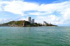 Jakby miasto Pattaya od morza Zdjęcie Royalty Free