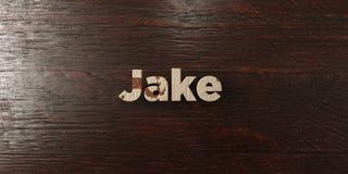 Jake - βρώμικος ξύλινος τίτλος στο σφένδαμνο - τρισδιάστατο δικαίωμα ελεύθερη εικόνα αποθεμάτων στοκ φωτογραφία με δικαίωμα ελεύθερης χρήσης