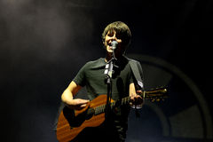 Jake Bugg (English musician, singer, and songwriter) performs at FIB Festival Royalty Free Stock Photo