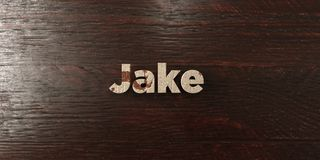 Jake - grungy wooden headline on Maple  - 3D rendered royalty free stock image Royalty Free Stock Photo