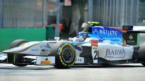 Jake Rosenzweig участвуя в гонке в Сингапур GP2 2012 Стоковое Изображение RF