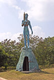 Jake Sully. JANUARY  27, 2015, VIJAYAWADA, ANDHRA PRADESH, INDIA - Sculpture of Jake Sully, character of the popular science fiction movie Avatar in Avatar Park Royalty Free Stock Photo